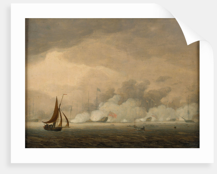 Royal Visit to the Fleet at Spithead, 26 June 1794 by Robert Cleveley