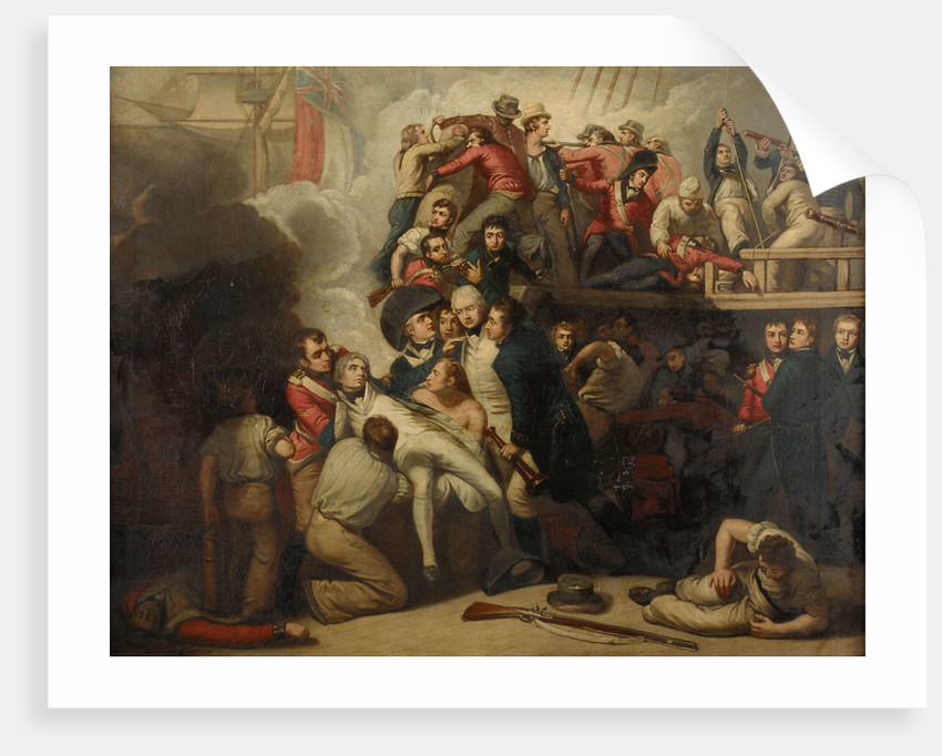 The death of Nelson at the Battle of Trafalgar, 21 October 1805 by Samuel Drummond