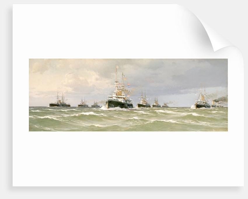 The Channel squadron, 1898 by Eduardo de Martino