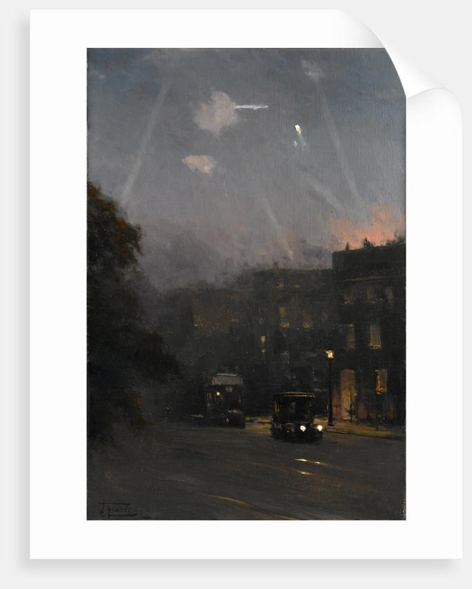 A Zeppelin raid, 8 October 1915 by John Fraser
