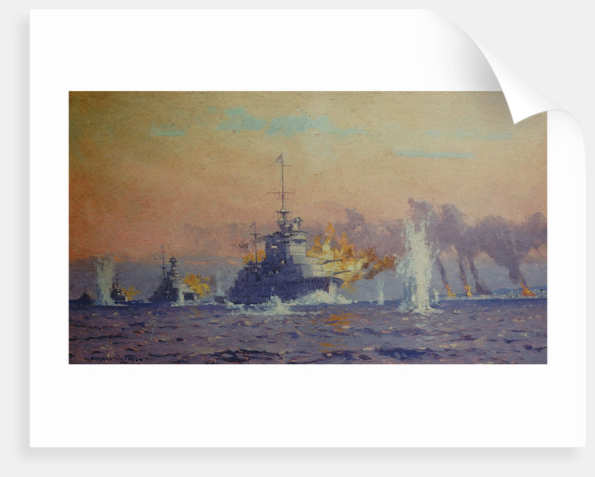 Bombardment of Genoa, 9 February 1941 by Norman Wilkinson