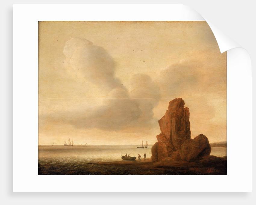 A rock in a calm sea by Jacob de Gruyter
