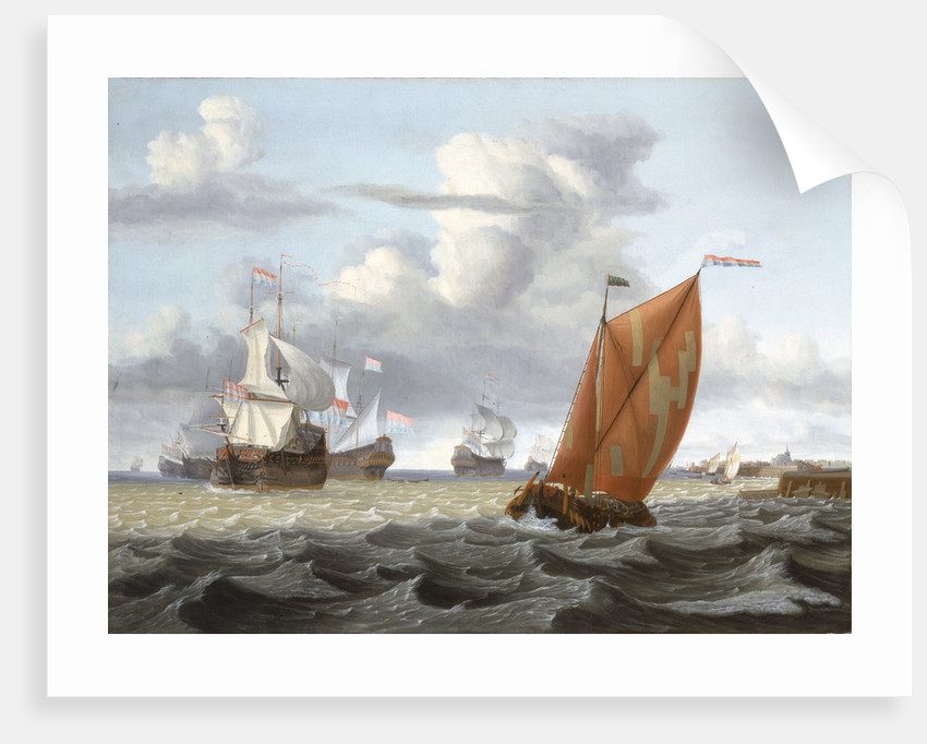Shipping off a Dutch harbour by Gerrit Pompe
