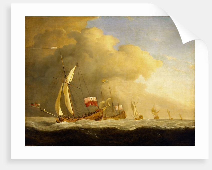 English Royal yachts at sea by Willem Van de Velde the Younger