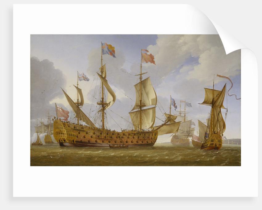 The 'Royal Prince' before the wind by Jan Karel Donatus van Beecq