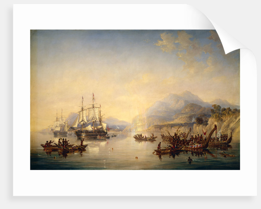 Erebus' and 'Terror' in New Zealand, August 1841 by John Wilson Carmichael