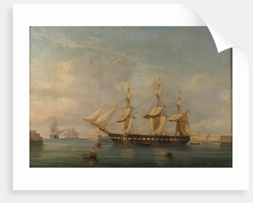 A frigate at Malta by A. de Simone