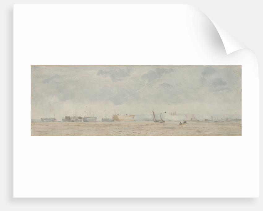Hulks off Portsmouth by John Fraser