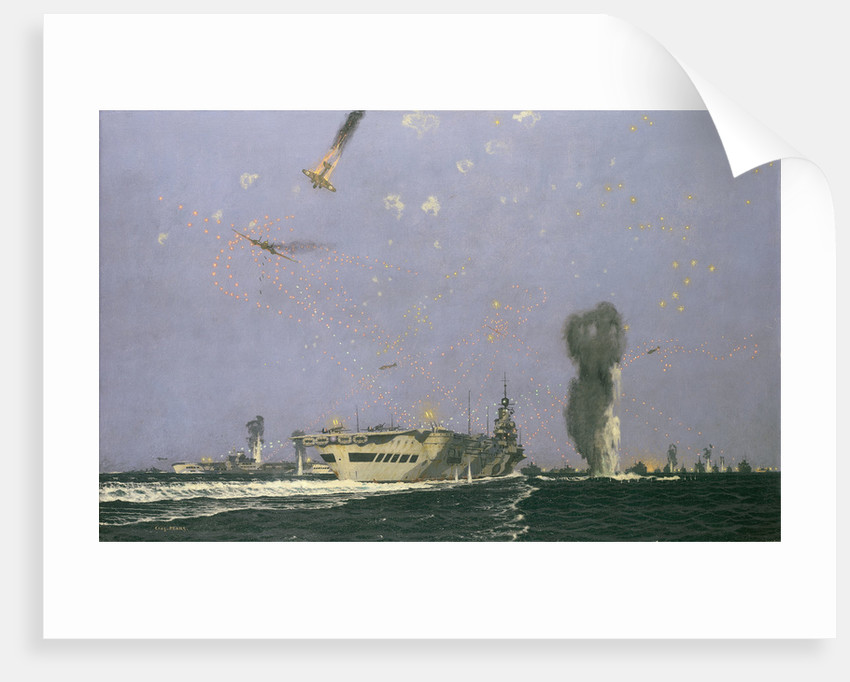 Aircraft carriers in the Malta convoy by Charles Pears