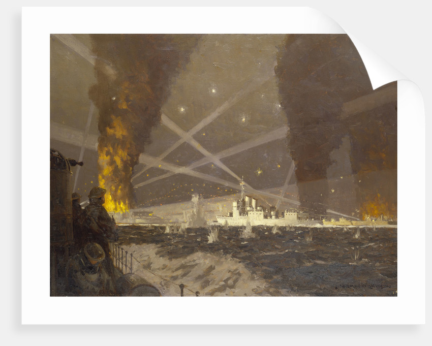 HMS 'Campbeltown' at St Nazaire, 27 March 1942 by Norman Wilkinson