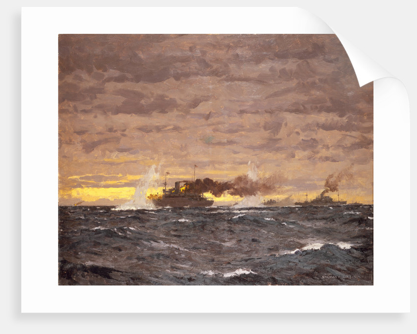 The Jervis Bay action, 5 November 1940 by Norman Wilkinson