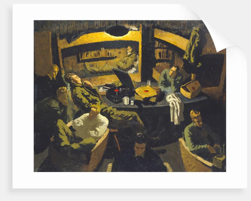 Naval officers room at Marlag 'O' prisoner-of-war camp by John Worsley