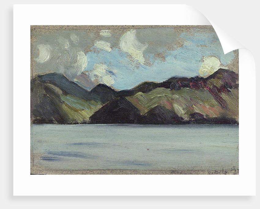 A coastal view by Herbert Barnard John Everett