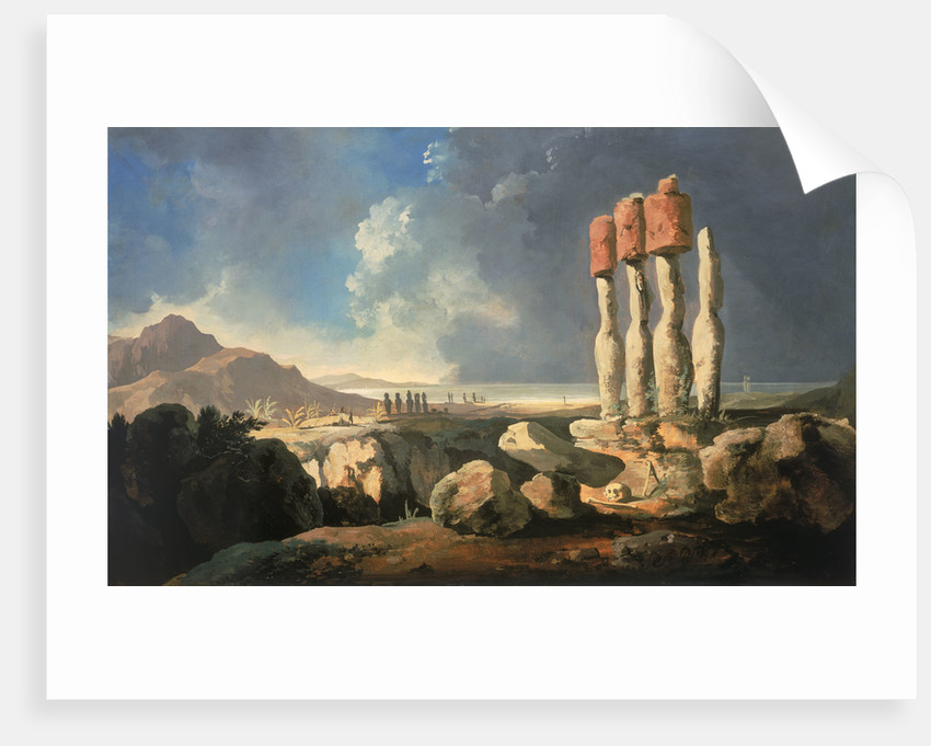 Monuments on Easter Island by William Hodges