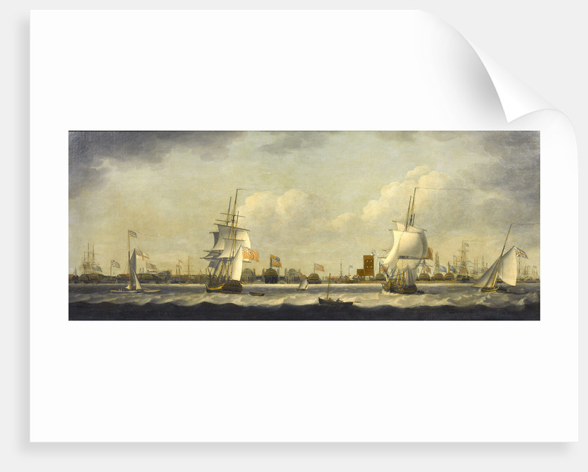 View of Mr Perry's Yard, Blackwall by William Dixon