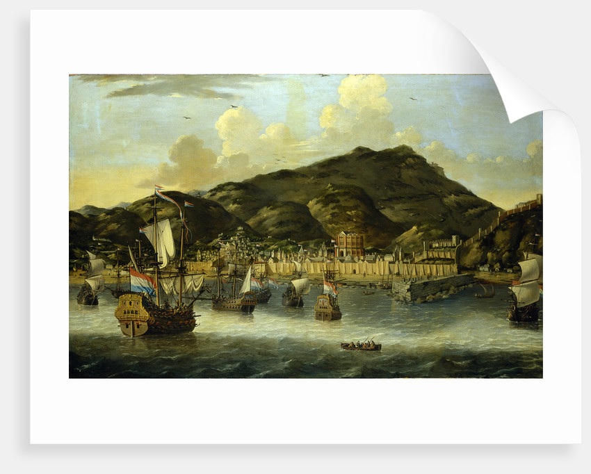 Dutch ships off Tripoli by Reinier Nooms