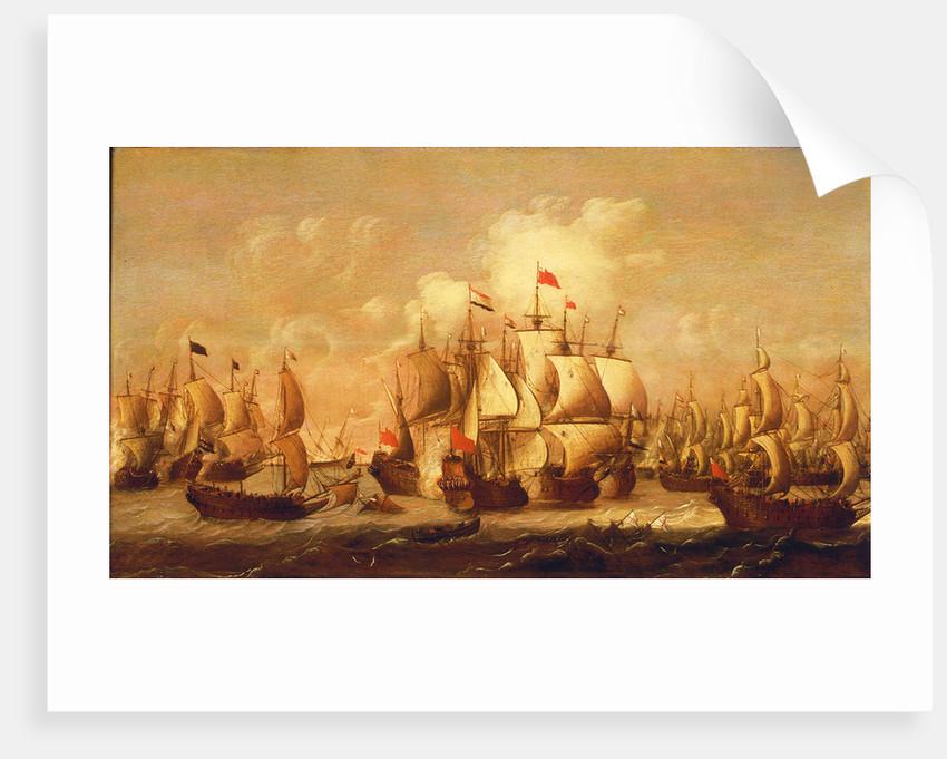 A battle of the First Dutch War, 1653 by Pieter Coopse