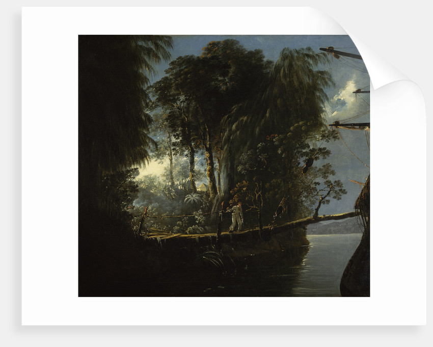 View in Pickersgill Harbour, Dusky Bay, New Zealand by William Hodges