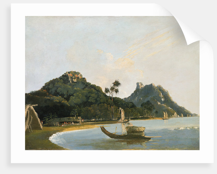 View of part of Owharre [Fare] harbour, island of Huahine by William Hodges