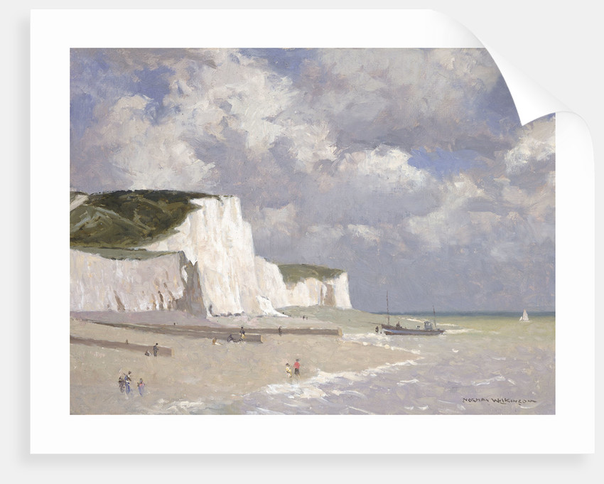 Chalk cliffs at Rottingdean by Norman Wilkinson