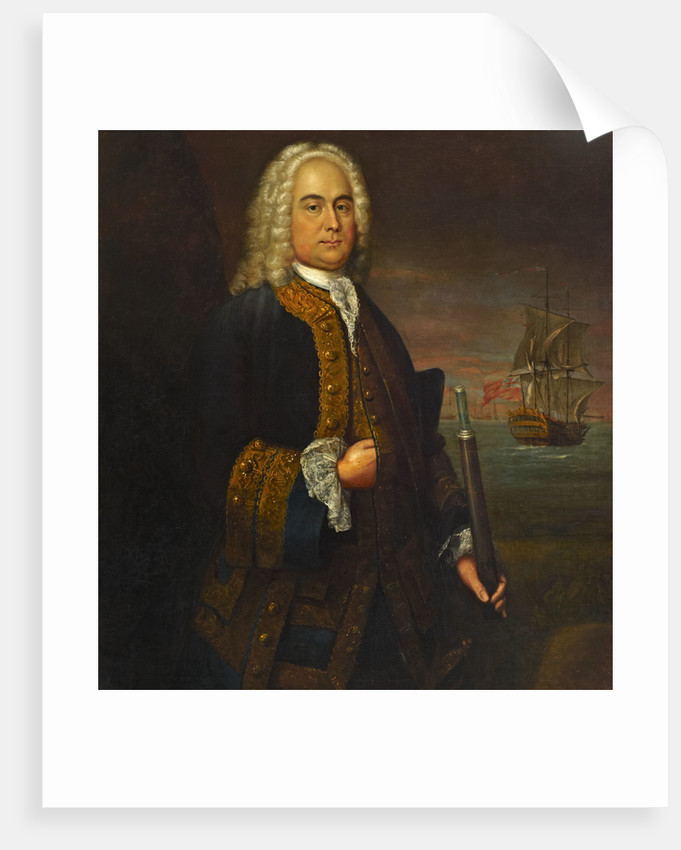 Commodore Curtis Barnett (1696-1746) by John Ellys