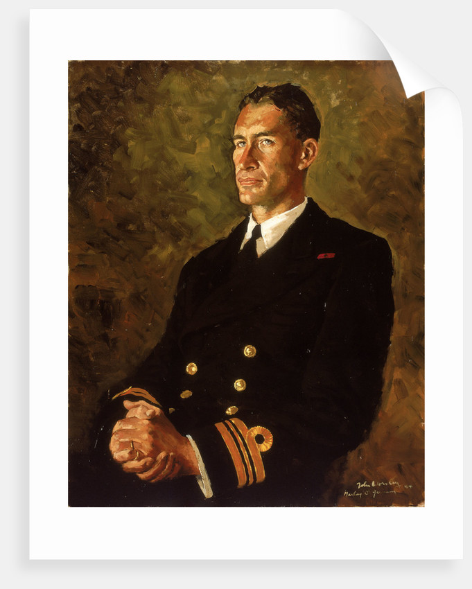 Lieutenant Commander Stephen Halden Beattie (1908-1975) by John Worsley
