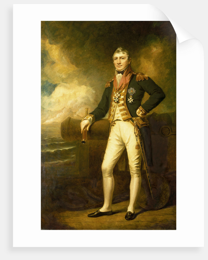 Admiral Sir David Milne (1763-1845) by George Frederick Clarke