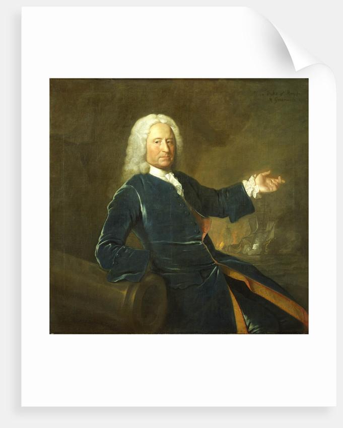 Admiral The Honourable Charles Stewart (1681-1740) by Allan Ramsay