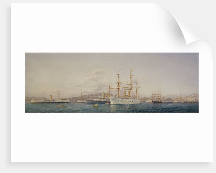 HMS 'Alexandra' at Malta by G. Gianni