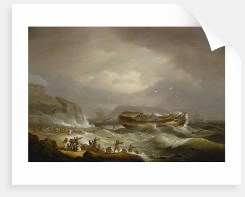 The wreck of the East Indiaman 'Dutton' at Plymouth Sound, 26 January 1796 by Thomas Luny