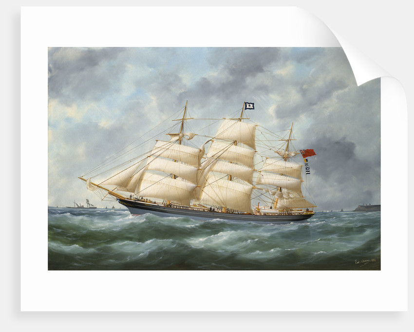 The ship 'Haddon Hall' by Marie Edouard Adam