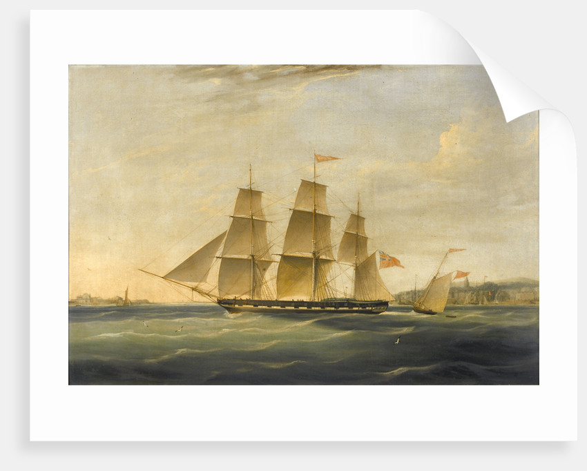The ship 'Matilda' and cutter 'Zephyr' by James Miller Huggins