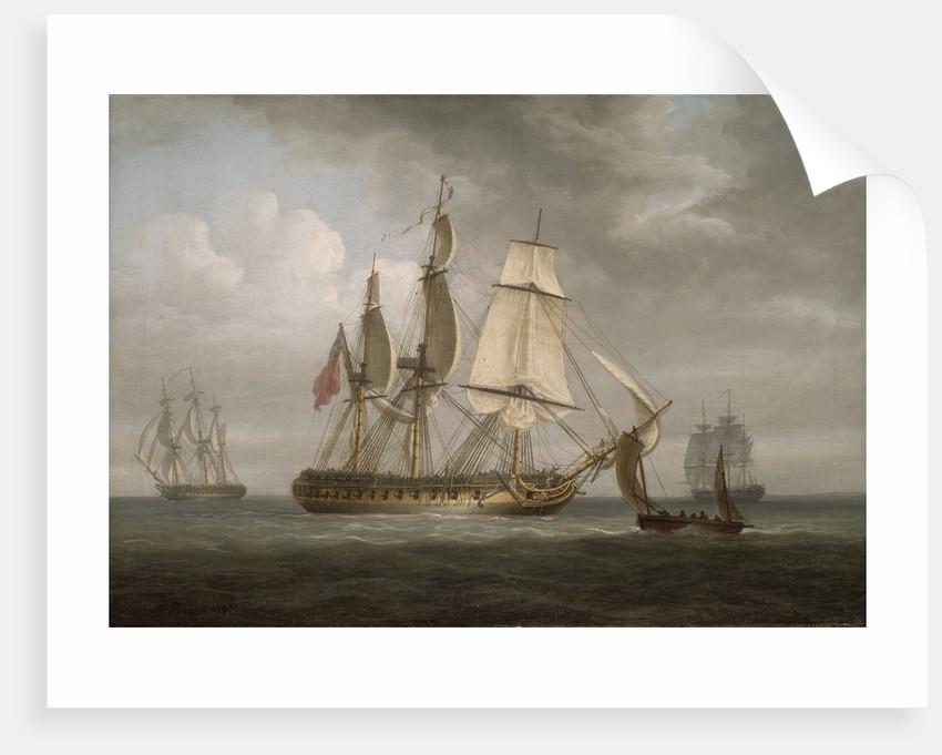 The Frigate 'Triton' and other vessels by Nicholas Pocock