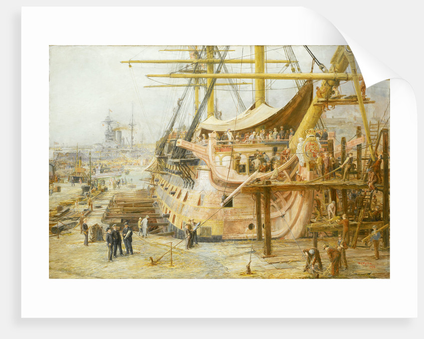 The restoration of HMS 'Victory' by William Lionel Wyllie