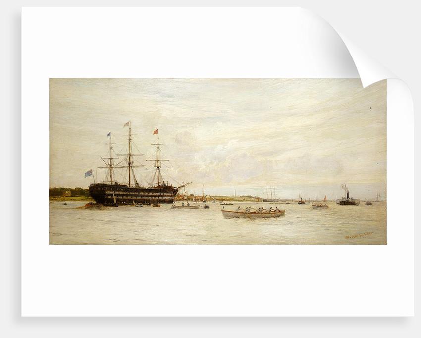 A regatta off HMS 'Worcester' by Charles William Wyllie