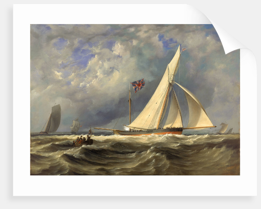 The 193 ton yacht 'Alarm' in a light swell by JM Gilbert