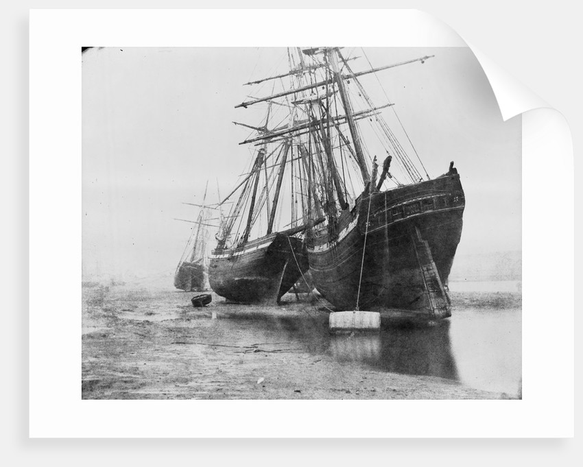 'Mary of St Ives' and unidentified vessel at mooring, Swansea by unknown