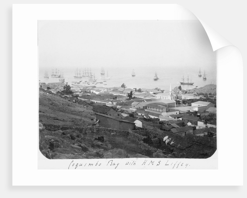 Coquimbo Bay with HMS 'Liffey' by unknown