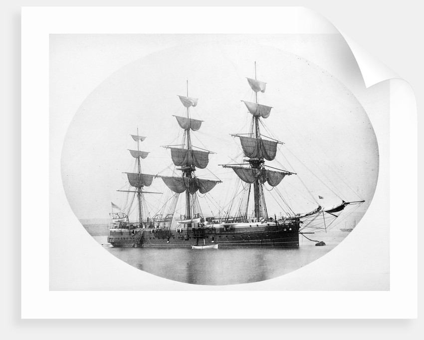 HMS 'Shannon' (1875) at anchor by unknown