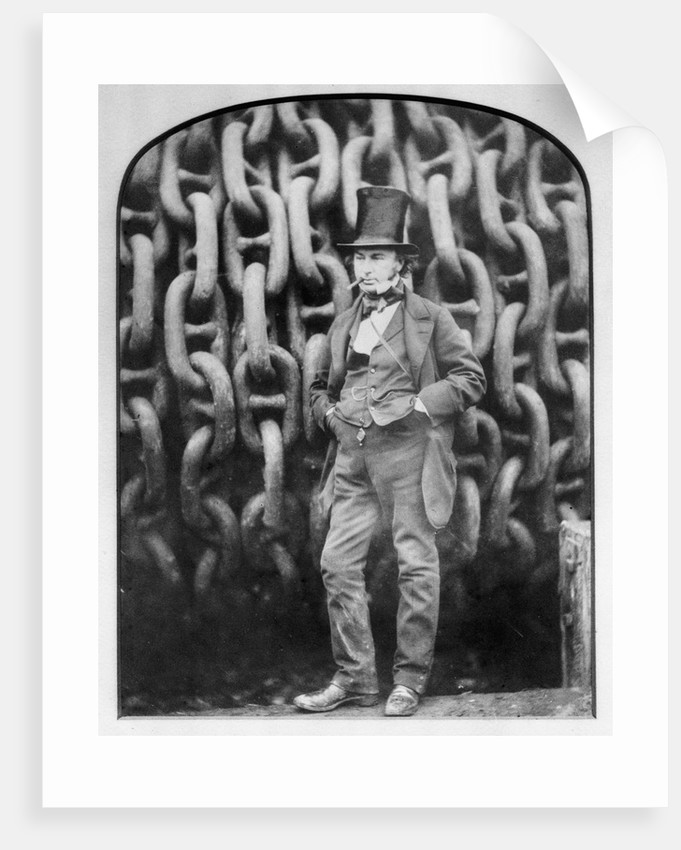 Isambard Kingdom Brunel at Millwall during the building of the 'Great Eastern' by Robert Howlett