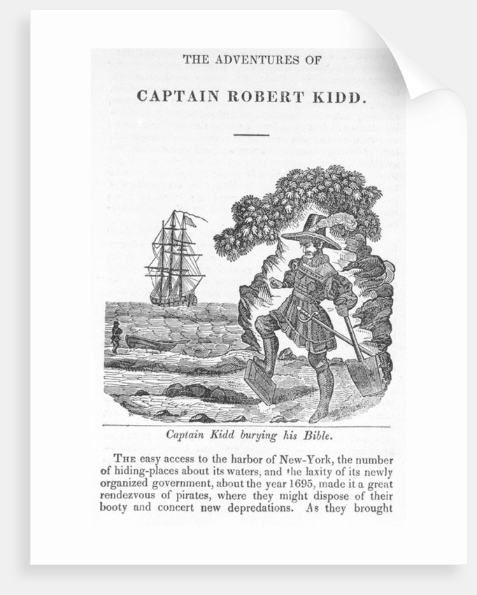 Captain Kidd burying his Bible by unknown