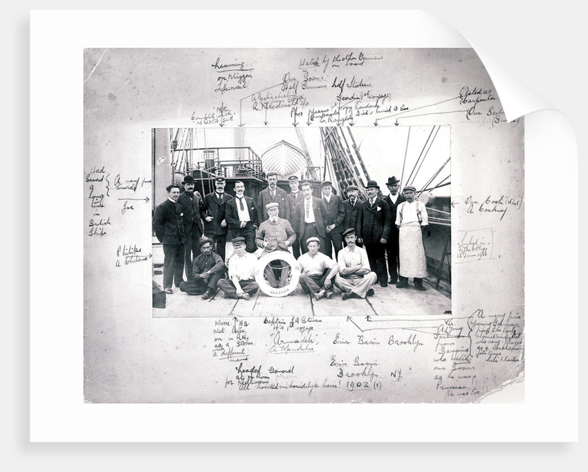 The crew of the 'Armadale Castle' by unknown