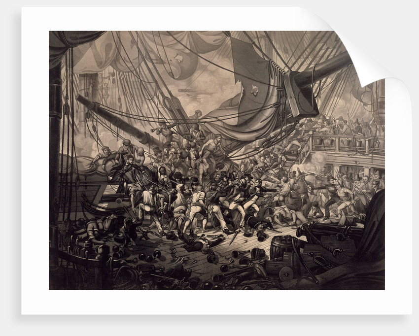 Horatio Nelson boarding the 'San Nicolas' at the Battle of Cape St Vincent, 1797 by W.M. Thomas