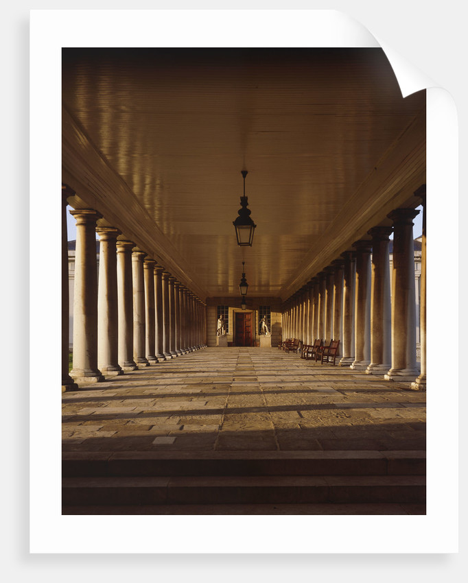 Colonnades looking towards Queen's House at National Maritime Museum, Greenwich by National Maritime Museum Photo Studio