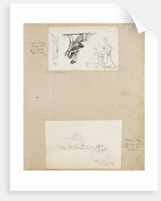 Figure studies, including 'one of the Connor girls and Nelson's nieces' by Thomas Baxter
