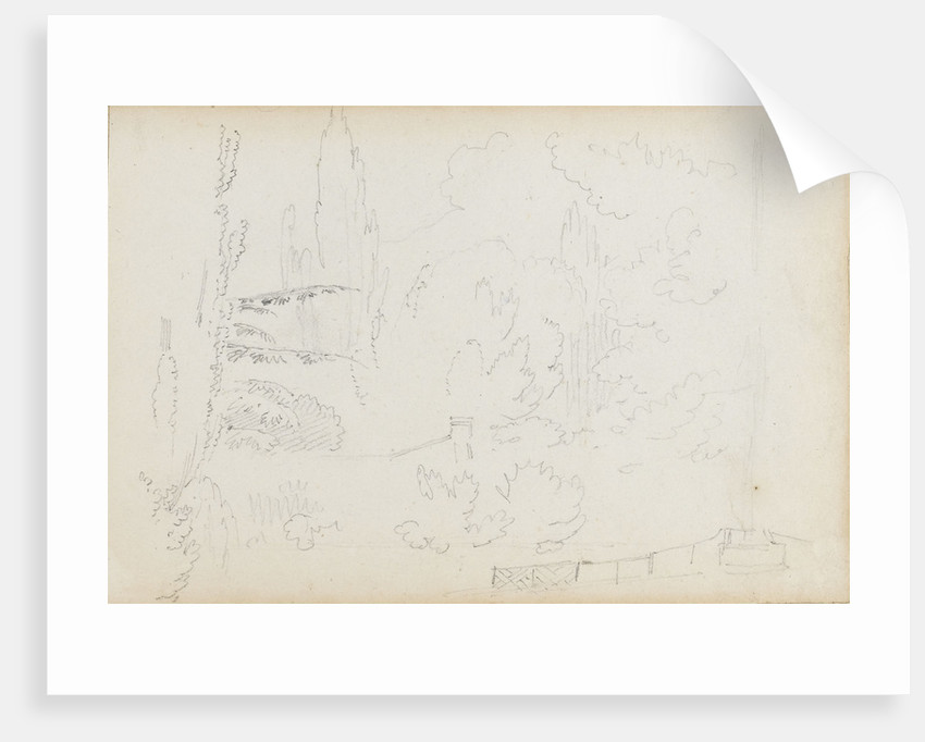 A sketch of the grounds at Merton by Thomas Baxter