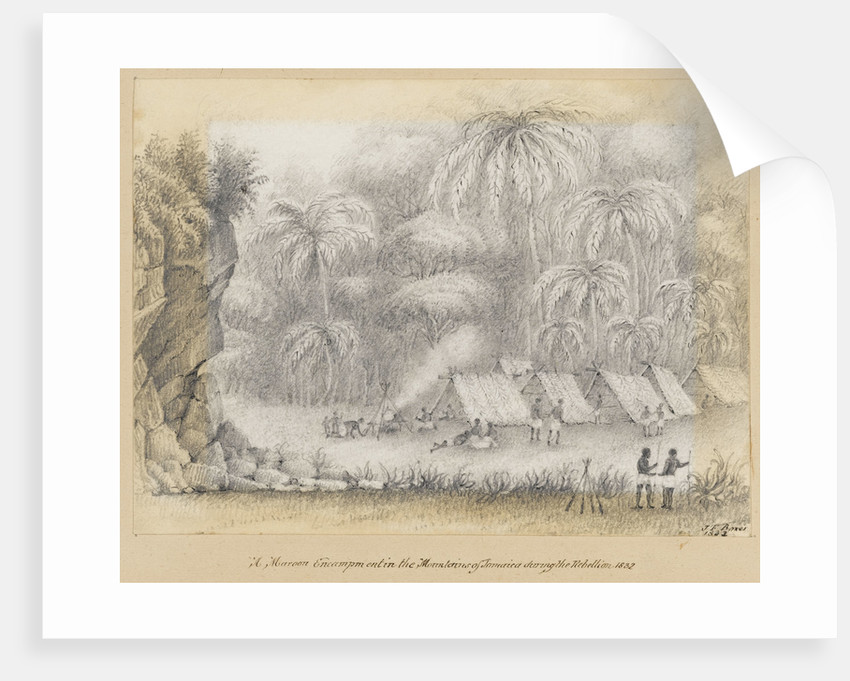 A Maroon Encampment in the Mountains of Jamaica during the Rebellion, 1832, Jamaica by James Fuller Boxer