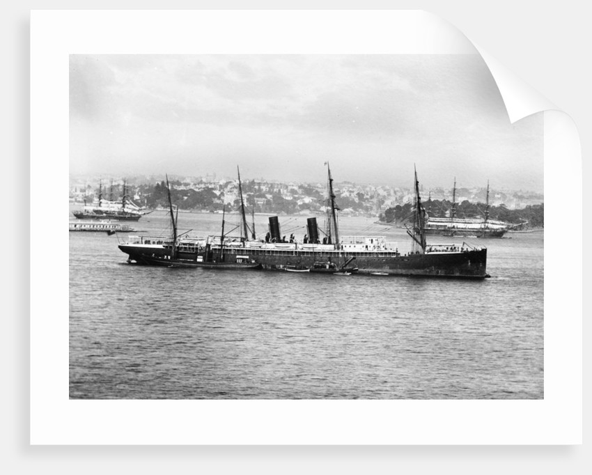 Photograph of passenger liner 'Ormuz' (1886) in Sydney by unknown