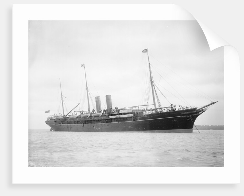 Passenger liner 'Atrato' (Br, 1888) at anchor by unknown
