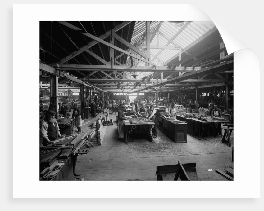 Joiners' Shop at John Brown & Co. Ltd, Clydebank, 1901 by Bedford Lemere & Co.